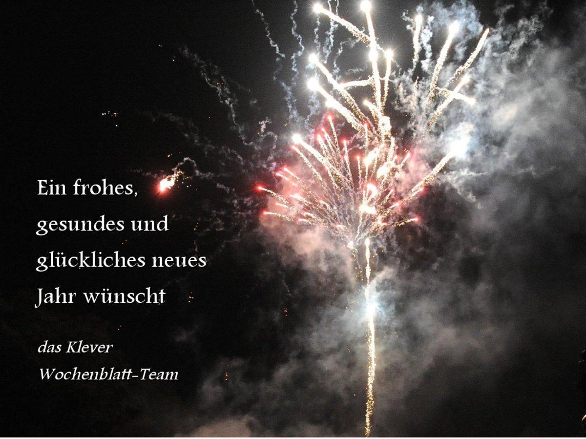 Wir wünschen ein glückliches neues Jahr - Kleve