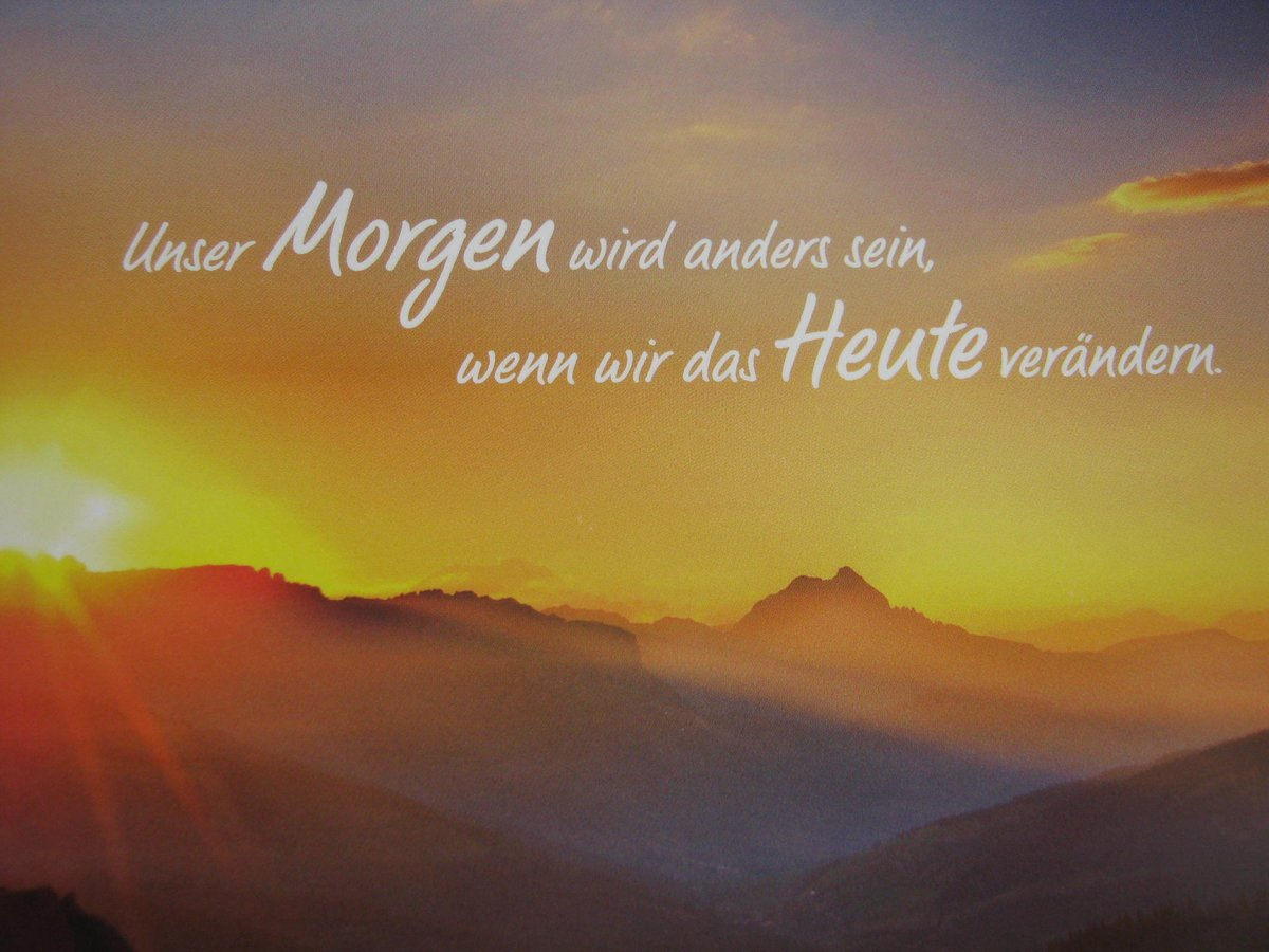 Spruch Morgen Alles Anders Essen Ruhr