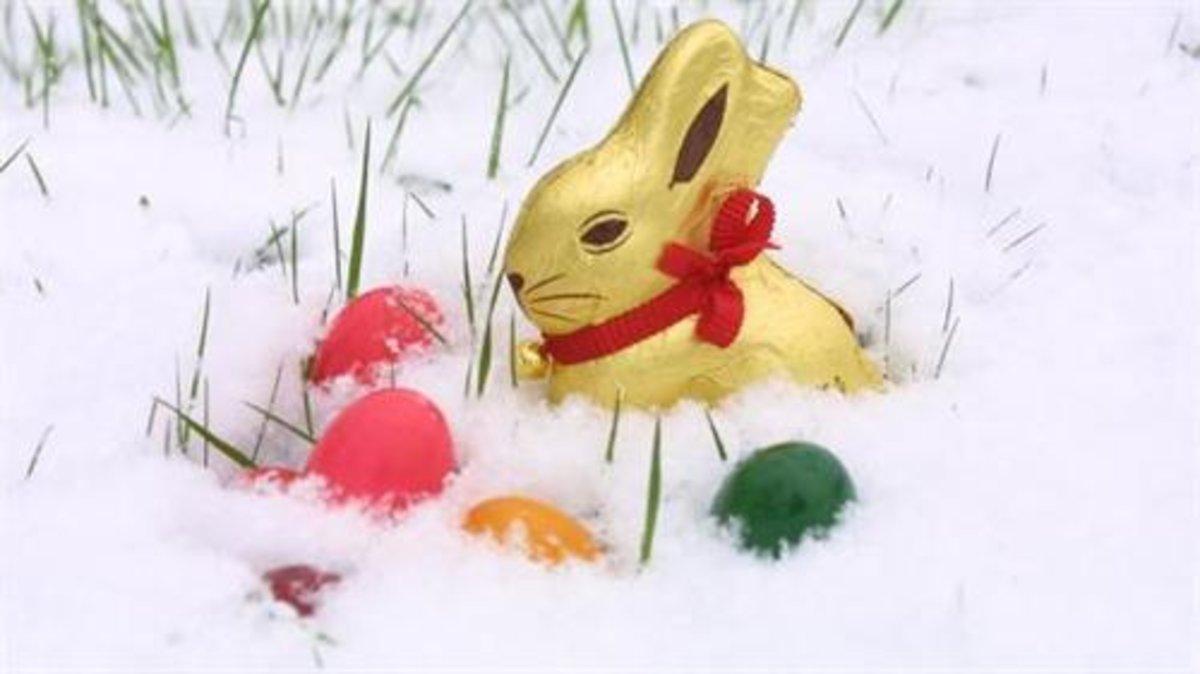 Wenn der Osterhase im Schnee versinkt - Gladbeck