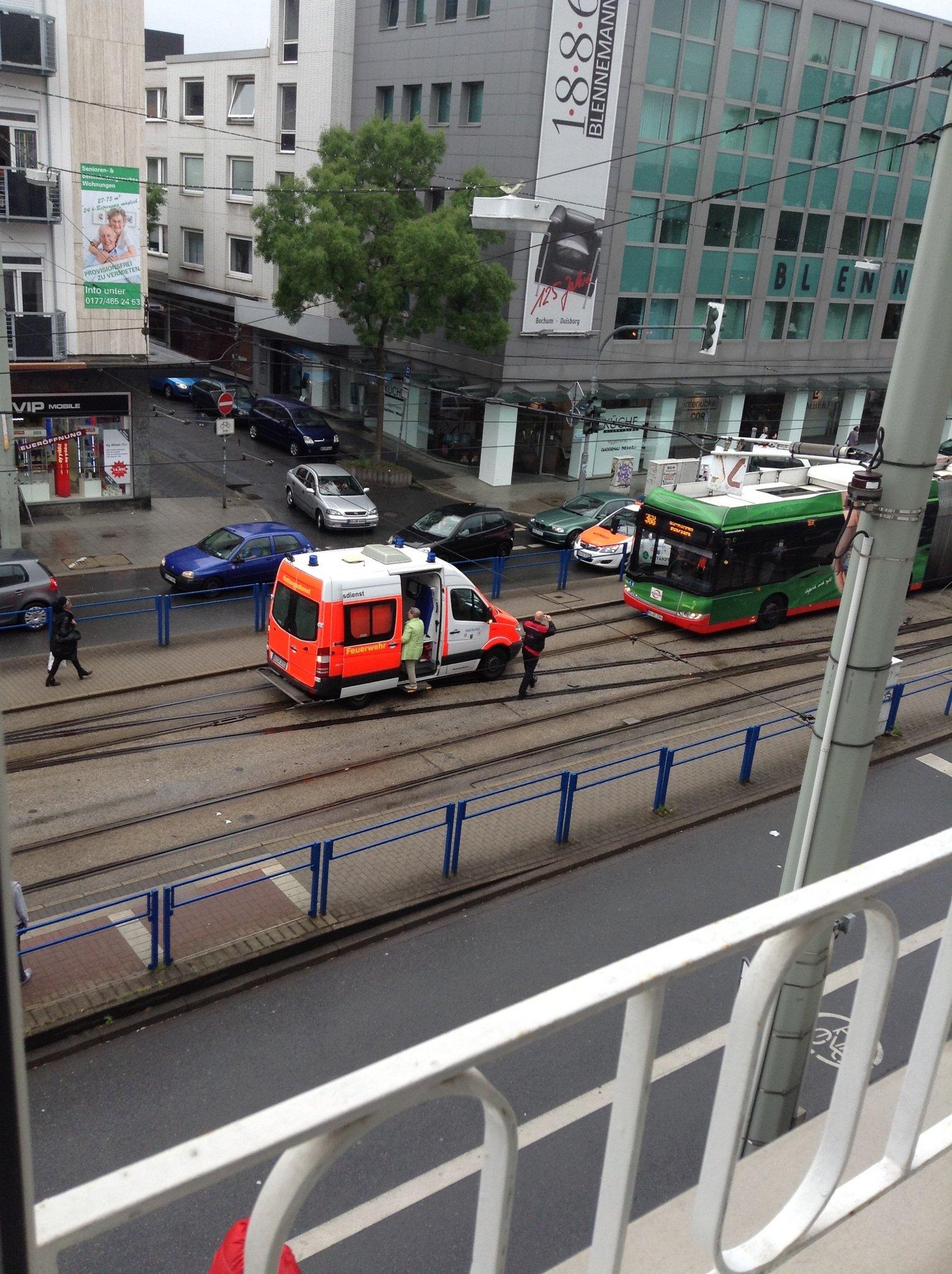 Blennemann Duisburg 13.6.2013 bochum brückstrasse - unfall - bochum