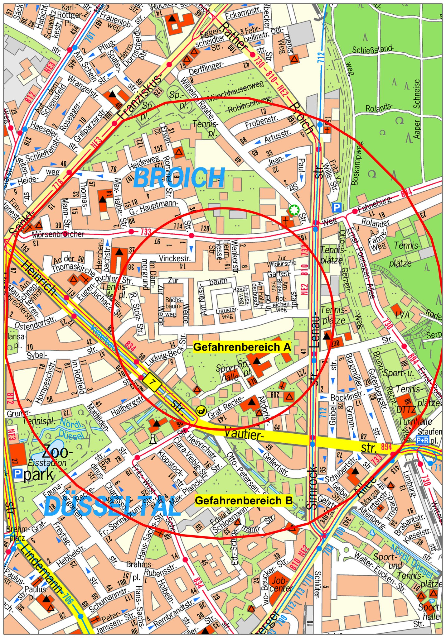 Düsseldorf Karte.Bombenfund In Mörsenbroich Anwohner Müssen Häuser Verlassen