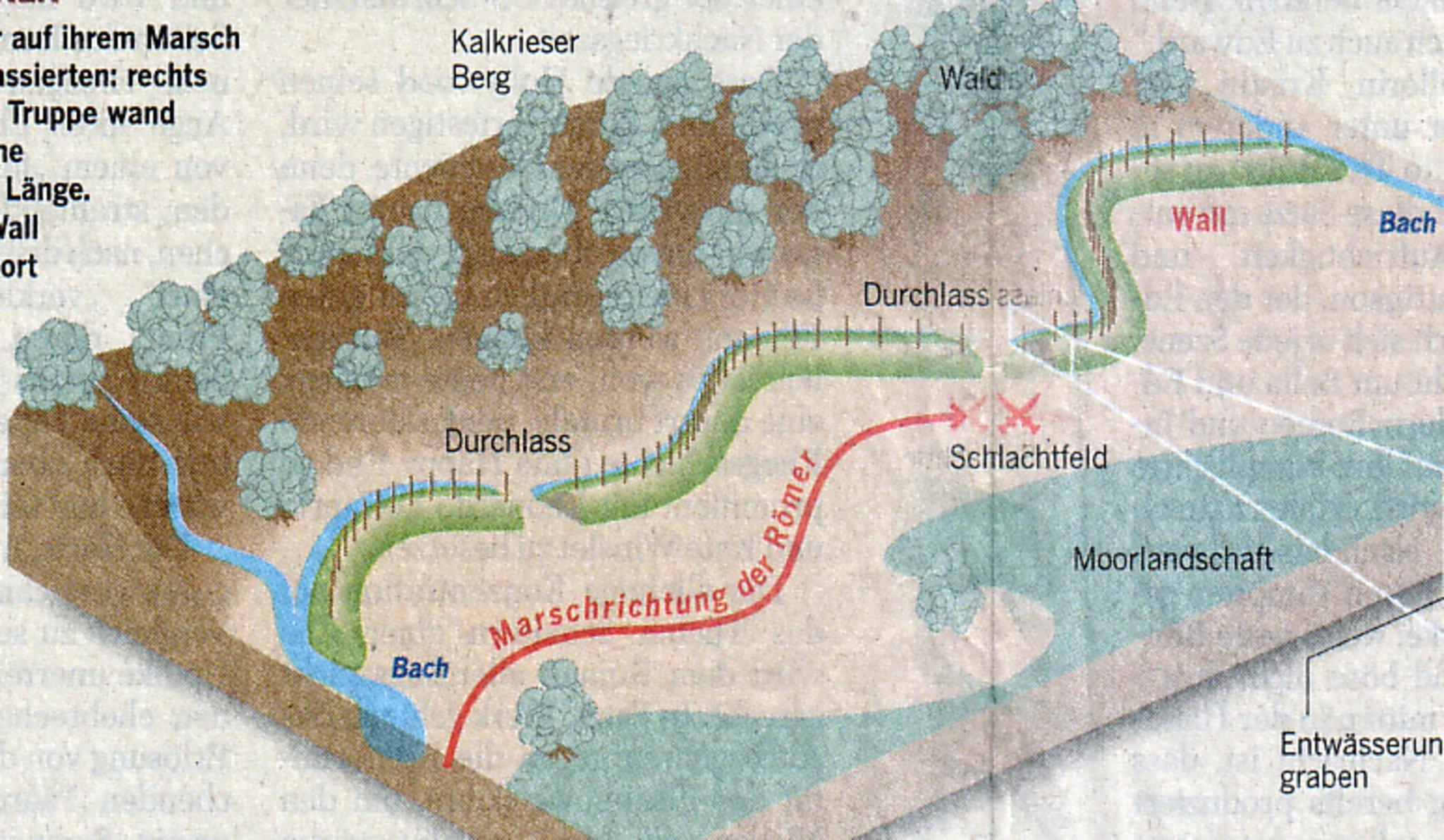 Varusschlacht Karte.Die Varusschlacht War Nicht In Kalkriese Essen West