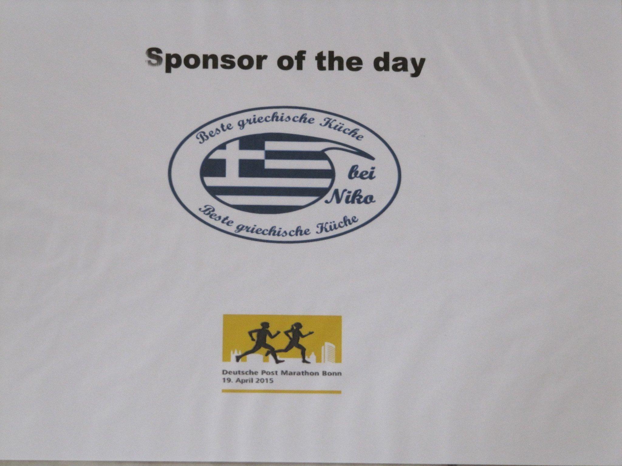 3 Sponsor Of The Day Fur Bonn Marathon Am Start Niko Stadtschanke