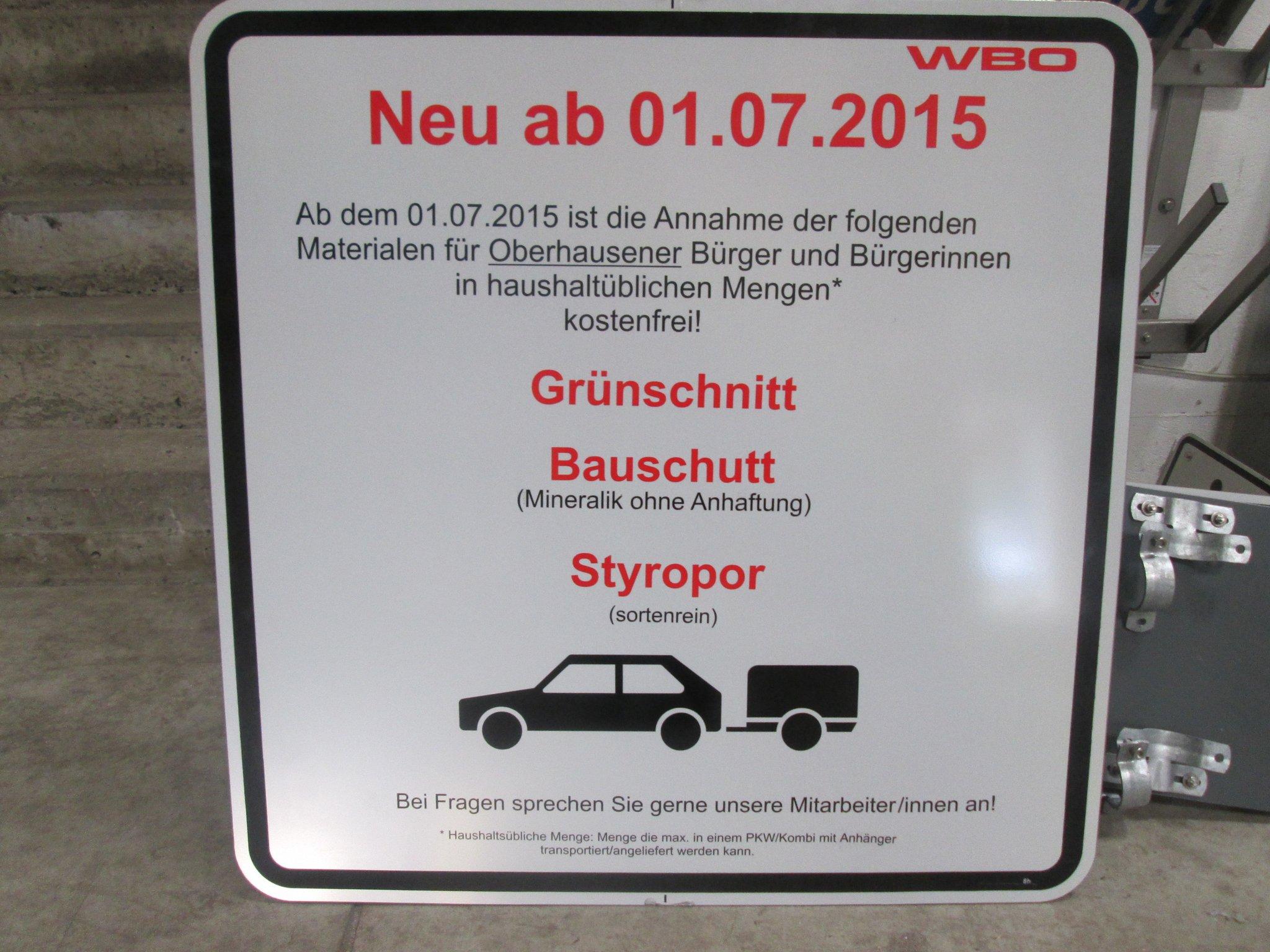 Grünschnitt Bauschutt Und Styropor Ab 1 Juli Kostenlos Am