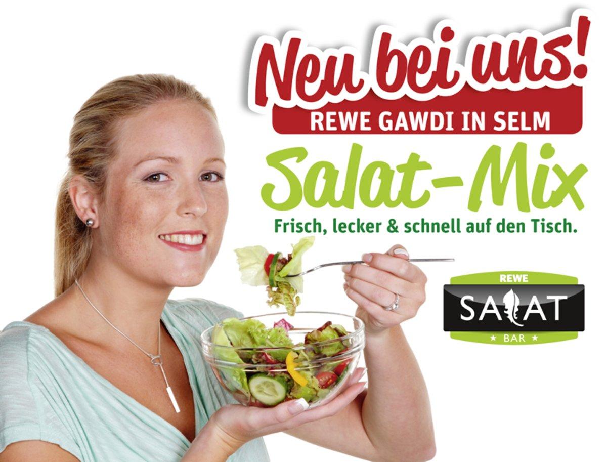 Neu Bei Uns Rewe Salat Bar Frisch Lecker Schnell Auf Den Tisch