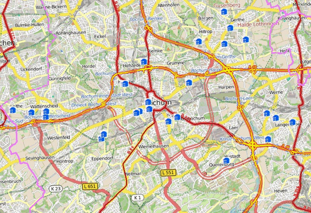 Bochum Karte.Wohnungs Einbruchs Radar Für Bochum Und Wattenscheid Wattenscheid