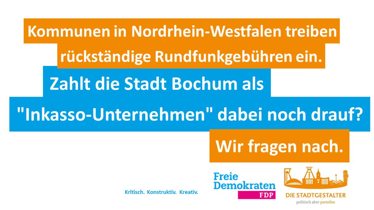 Stadt Soll Nicht Inkasso Für Den Rundfunkbeitrag Betreiben Bochum