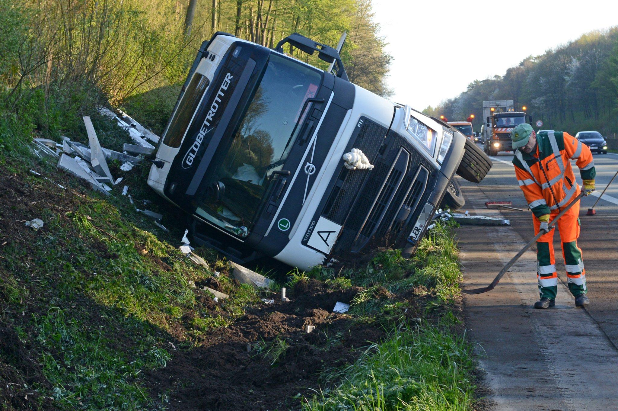 Lkw Unfall A31 Leer