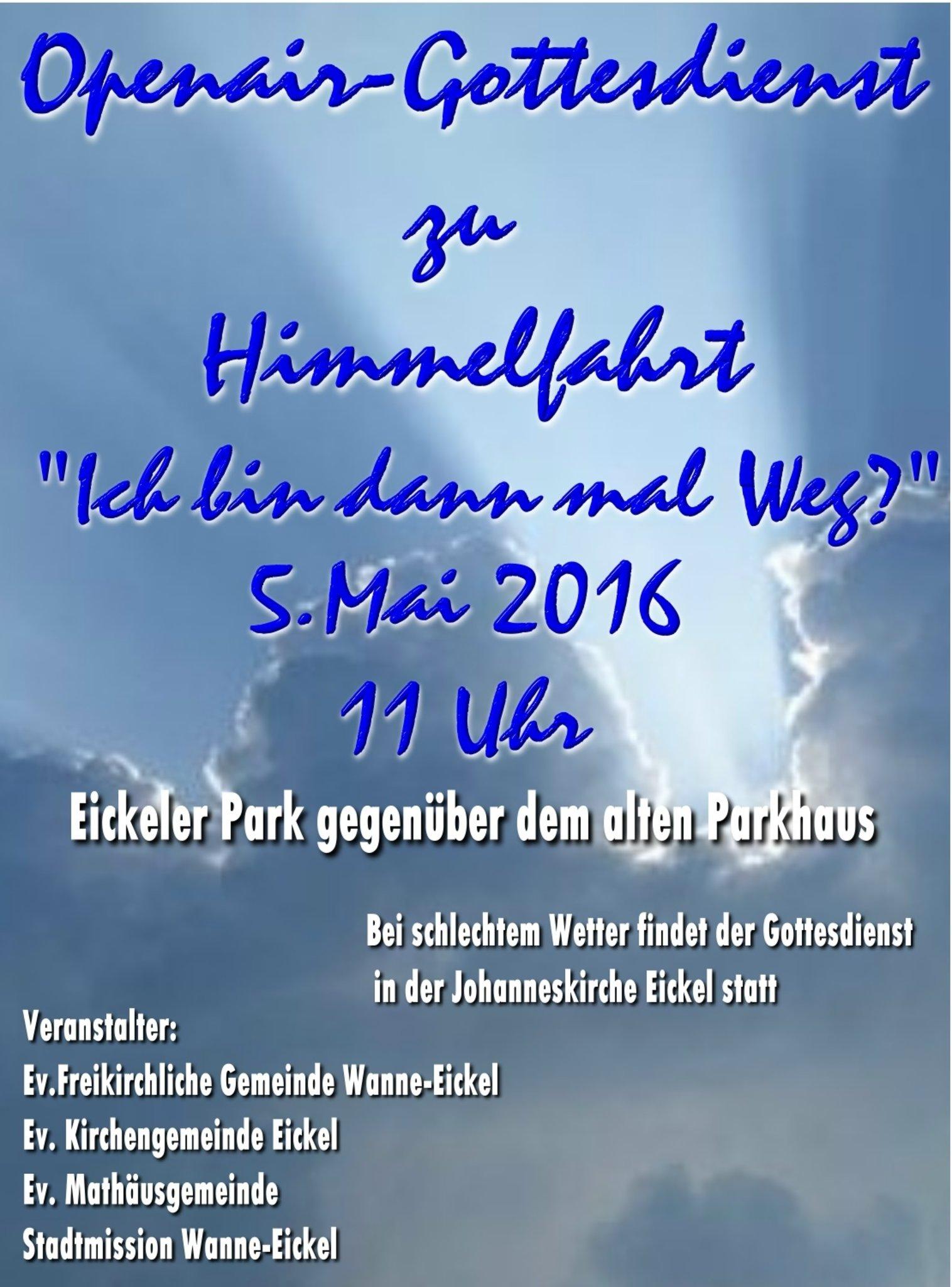 Openair Gottesdienst Zu Himmelfahrt Wanne Eickel