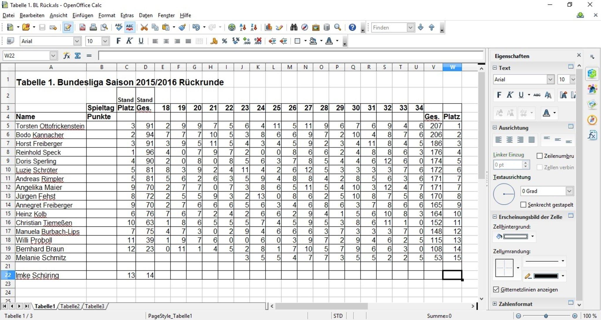 1bl Tabelle