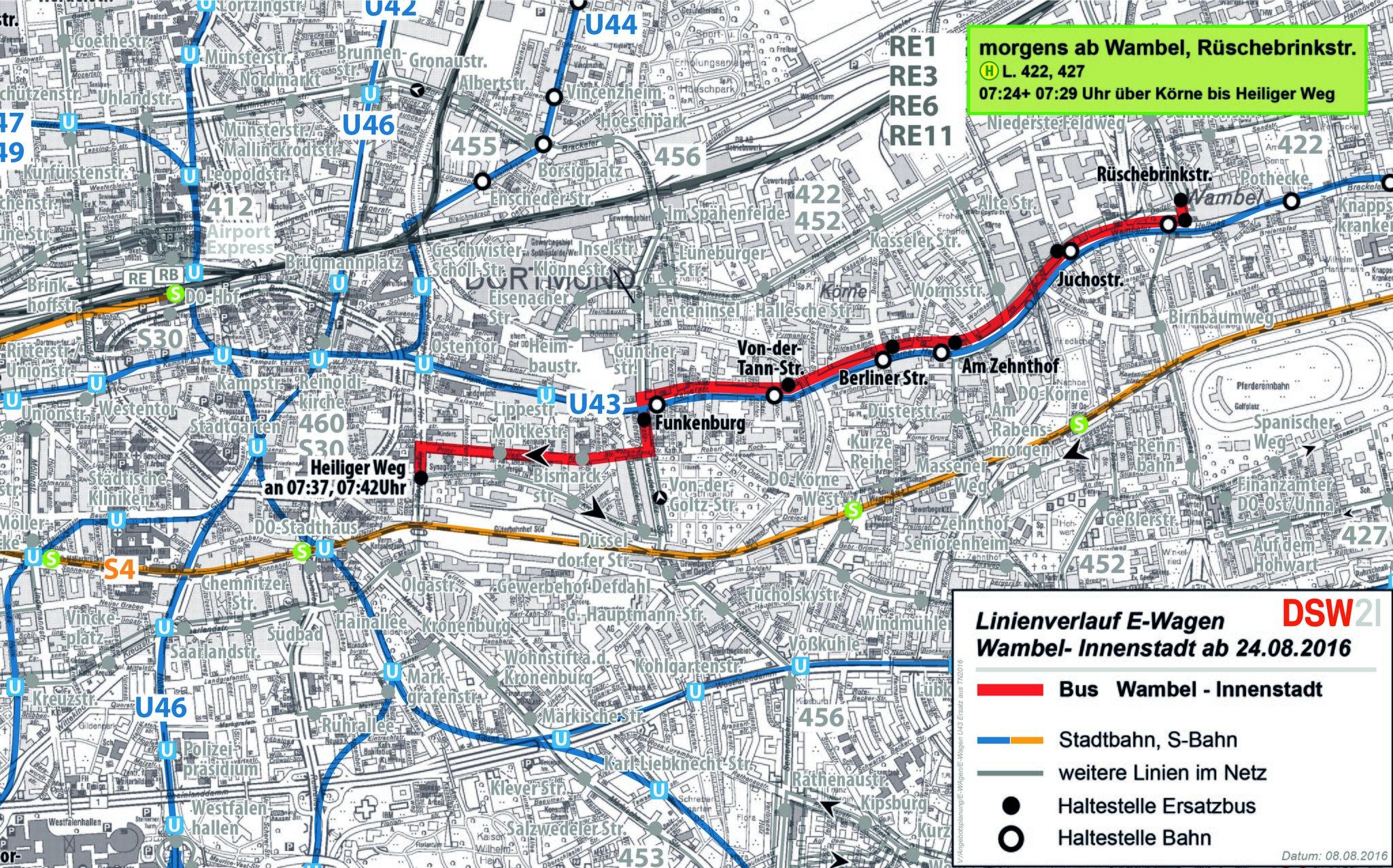 Bahnen Auf Der U43 Werden Knapp Dortmund City