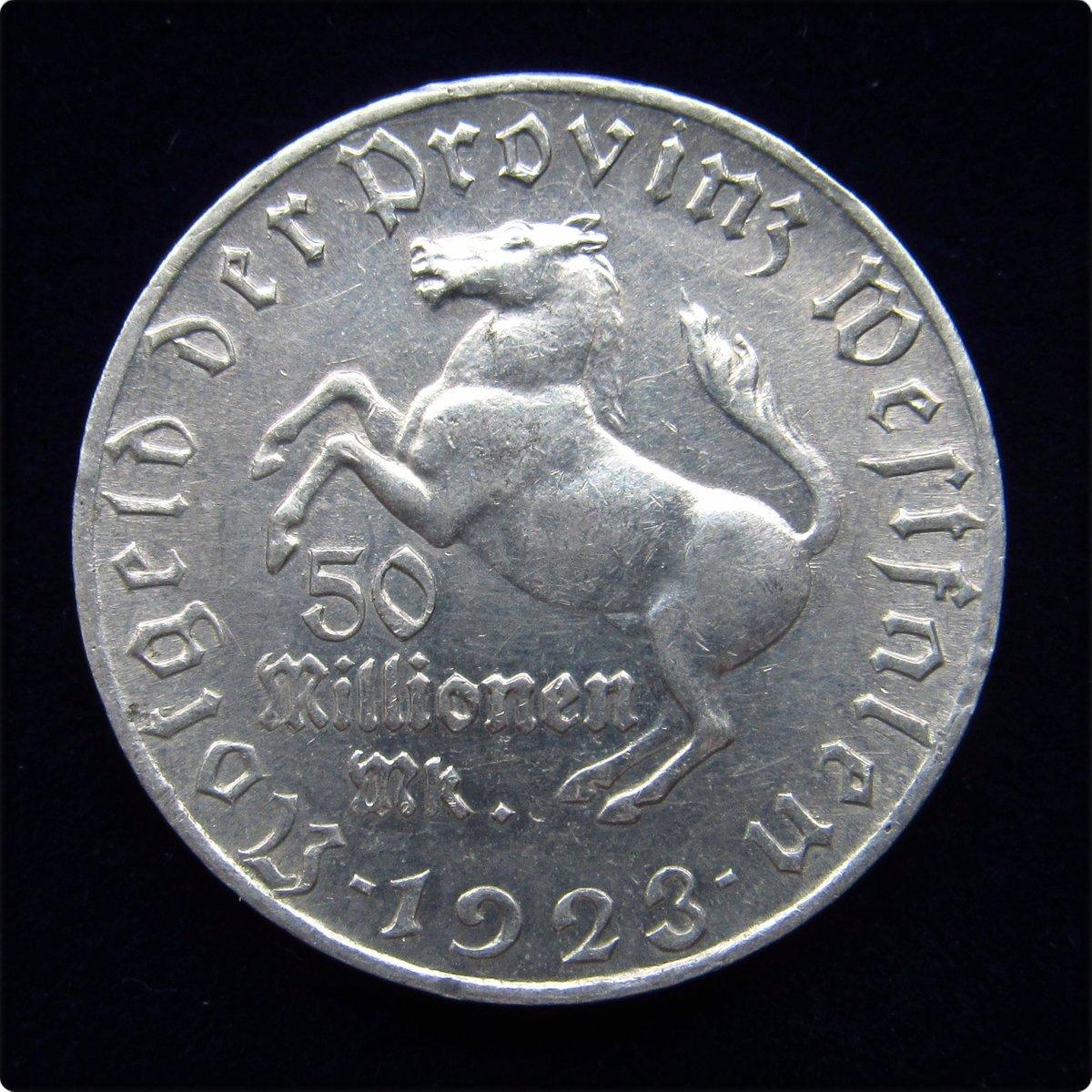 Münzen Mit Geschichte 50 Millionen Mark Notgeld Der Provinz