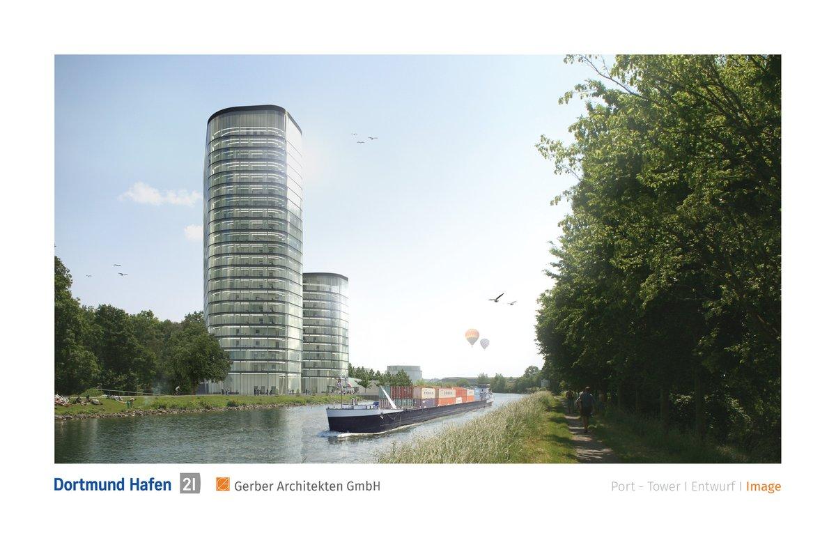 Zwei Hochhauser Fur Den Dortmunder Hafen Dortmund City