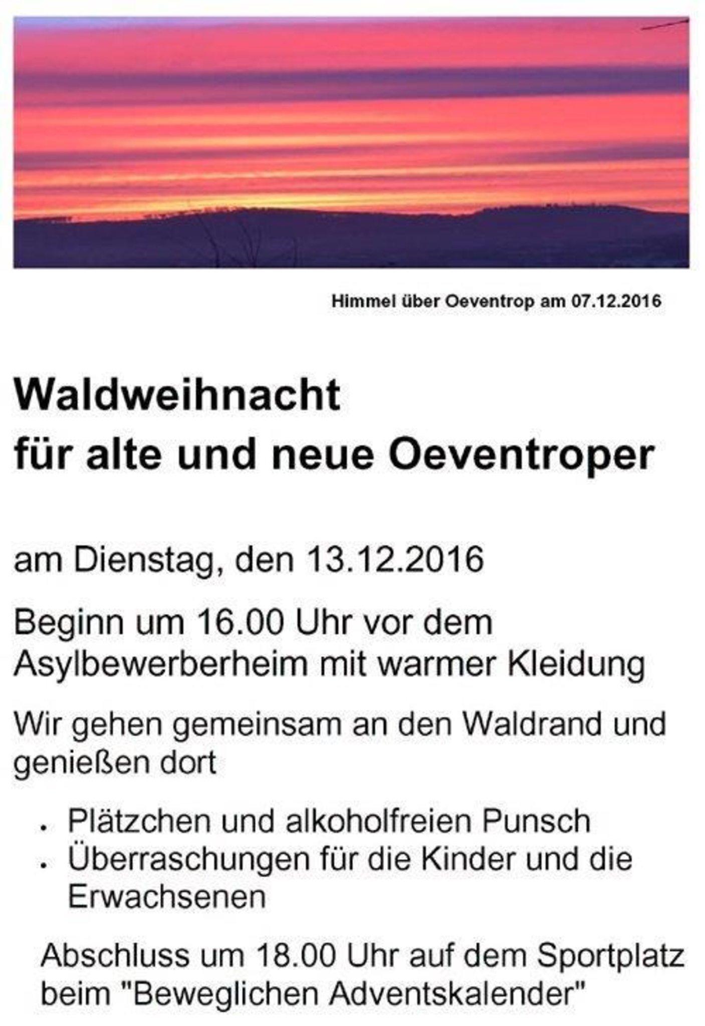 Alte Weihnachtskalender.Waldweihnacht Für Alte Und Neue Oeventroper Arnsberg