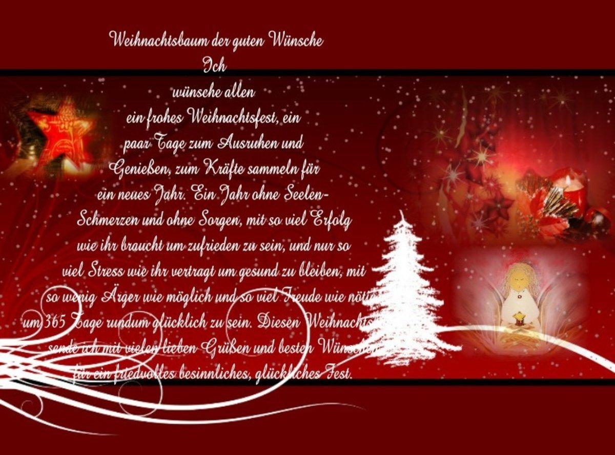 Weihnachtsbaum Der Guten Wünsche.Wünsche Für Friedvolle Besinnliche Weihnachtstage Mülheim An Der Ruhr