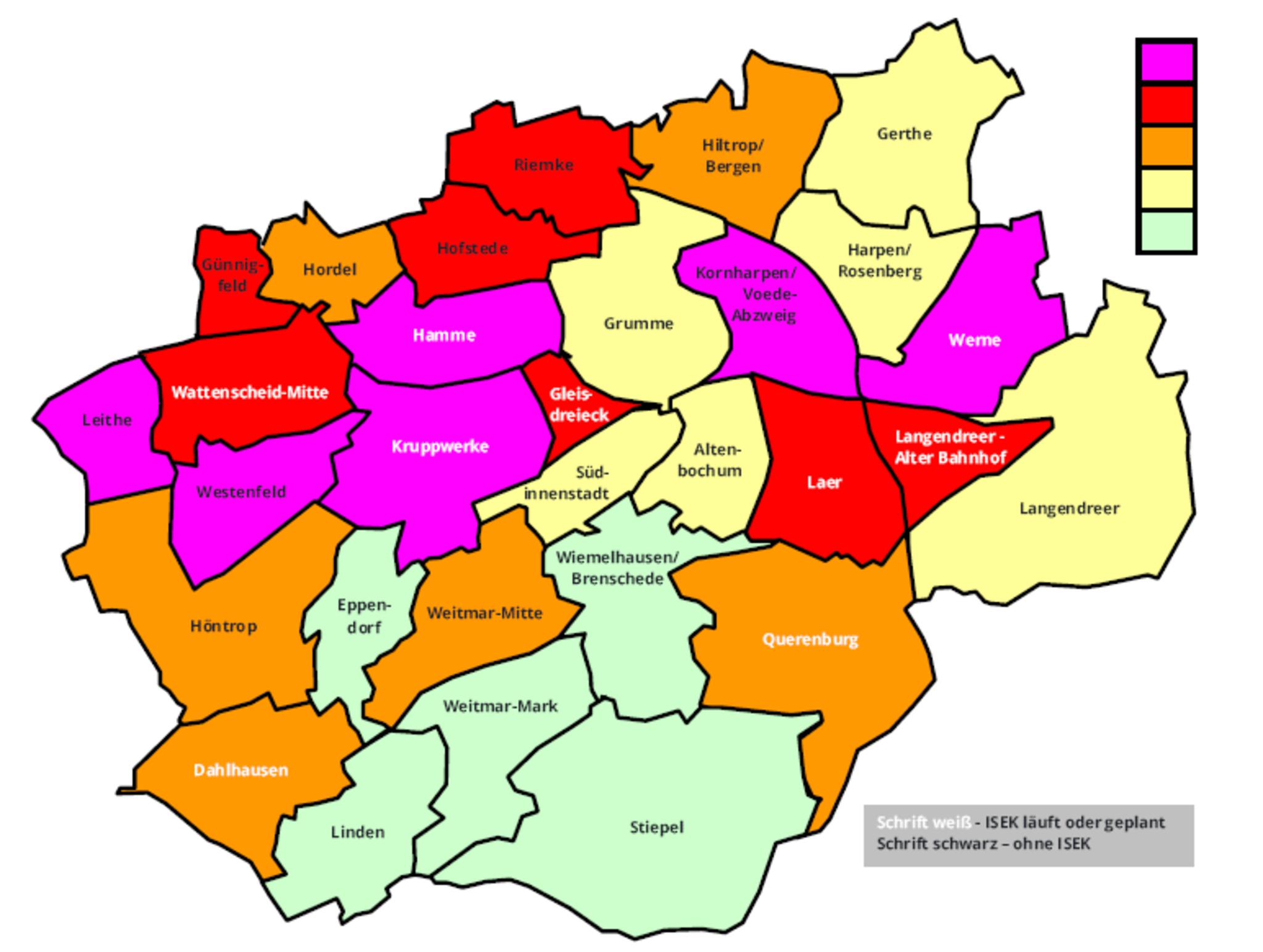 Bochum Karte.Stadtteilranking Welche Ortsteile Brauchen Dringend Hilfe Welchen