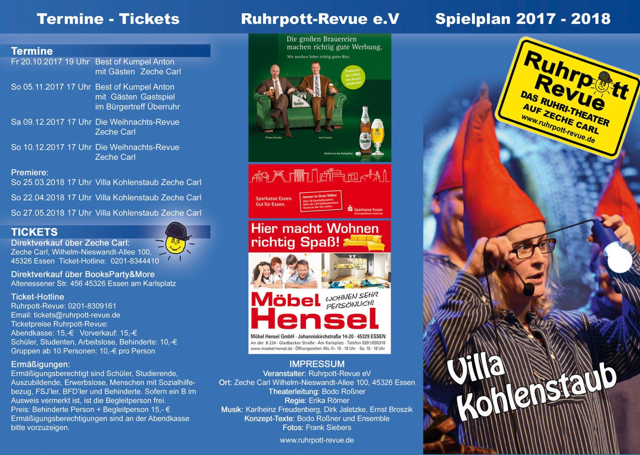 Theaterhappchen In Der Casa Essen Mit Dabei Die Ruhrpott Revue
