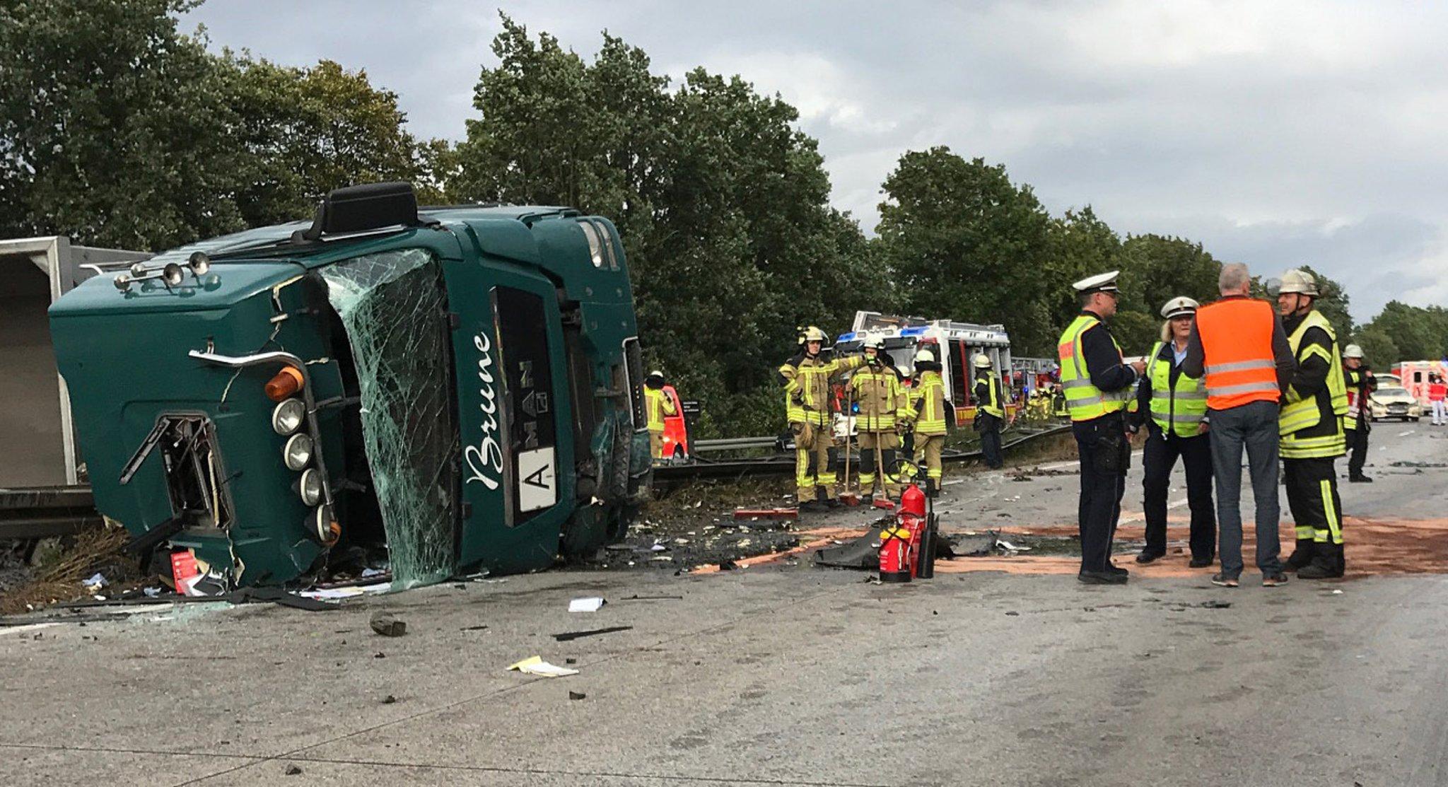 Unfall A44 Gestern