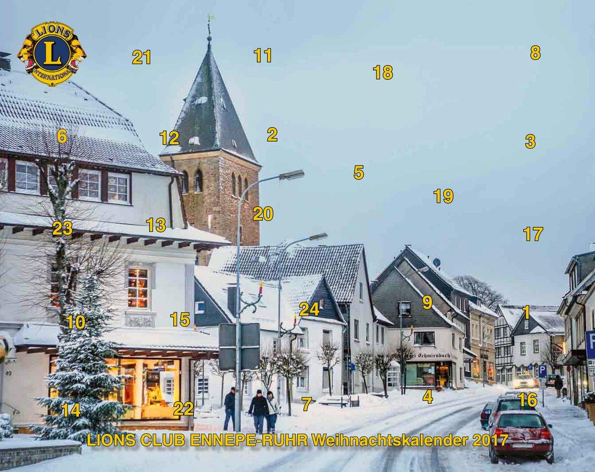 Gewinn Weihnachtskalender.Advendskalender Vom Lions Club Ennepe Ruhr Hinter Jedem Türchen Ein