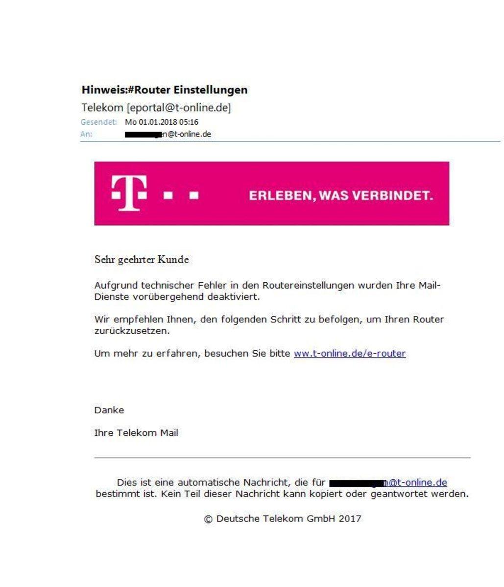 Router Einstellungen Von Telekom Eportal At T Onlinede Ist Phishing