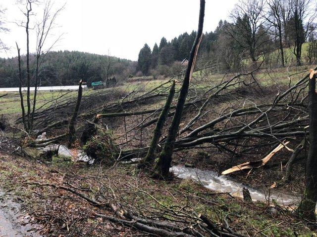 Breckerfeld - Sturmtief Burglind richtet Chaos an - Hagen