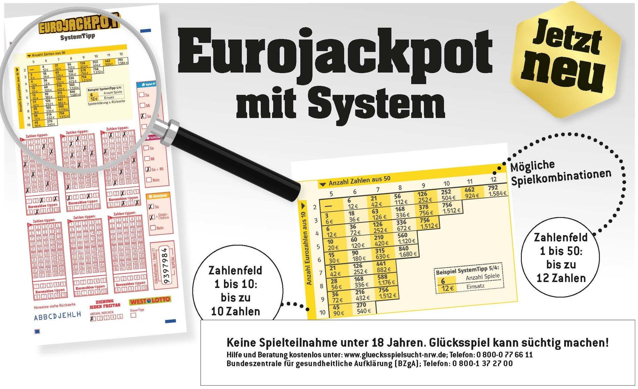 Eurojackpot Systemspiel
