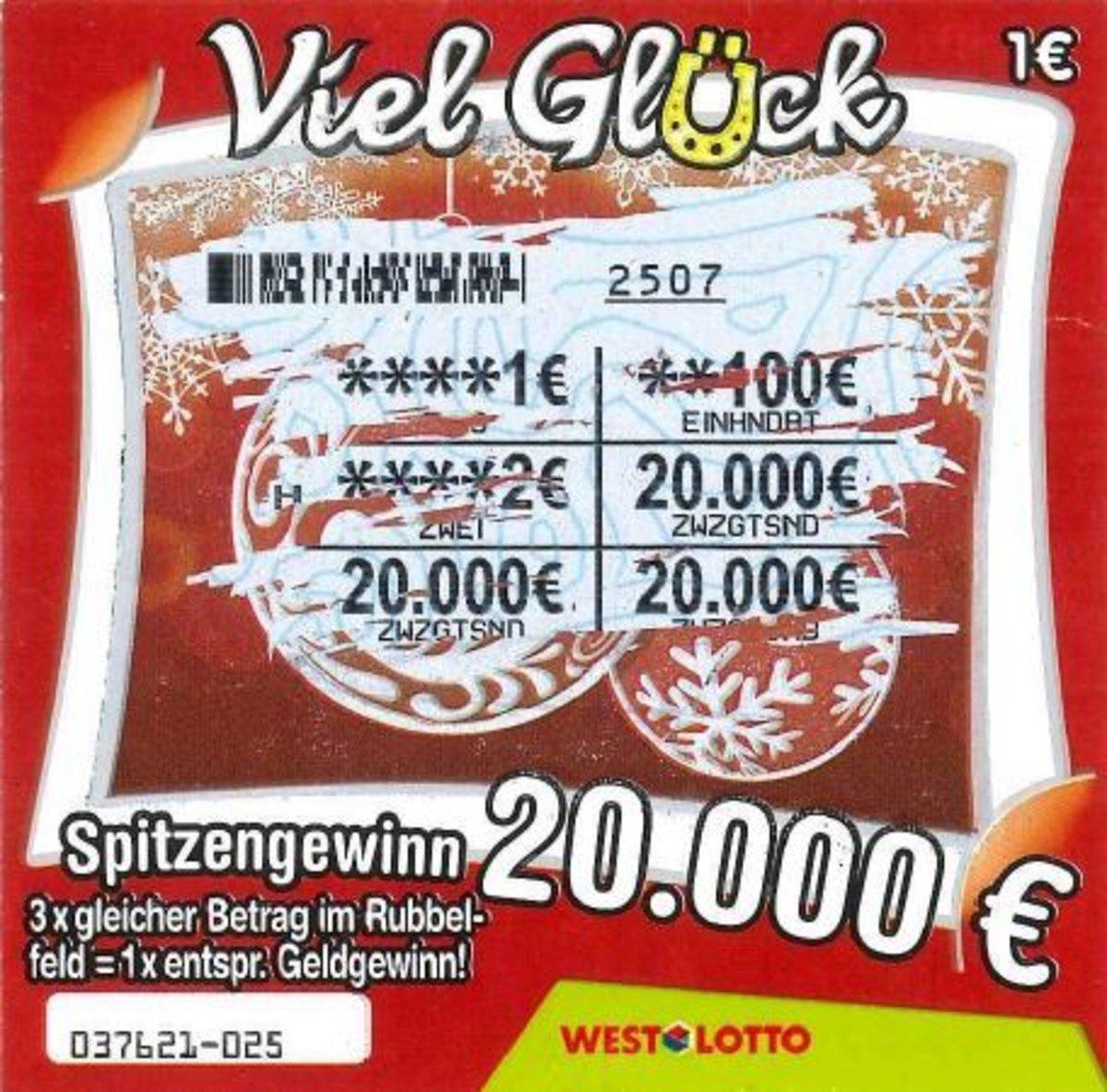 Lotto Weihnachten.Lieber Rubbel Spaß Als Blumen
