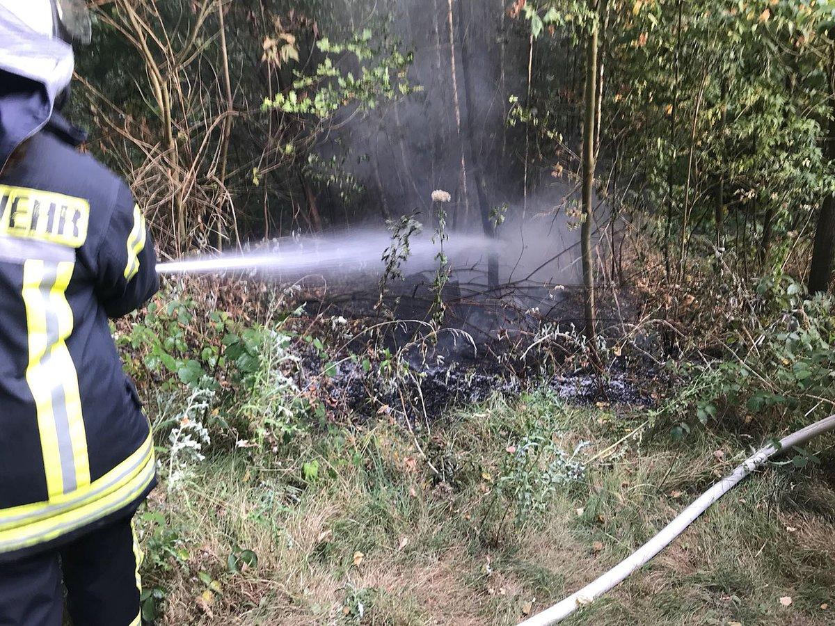 Wetter Feuerwehr Hatte Waldbrand In Grundschöttel Schnell Im Griff