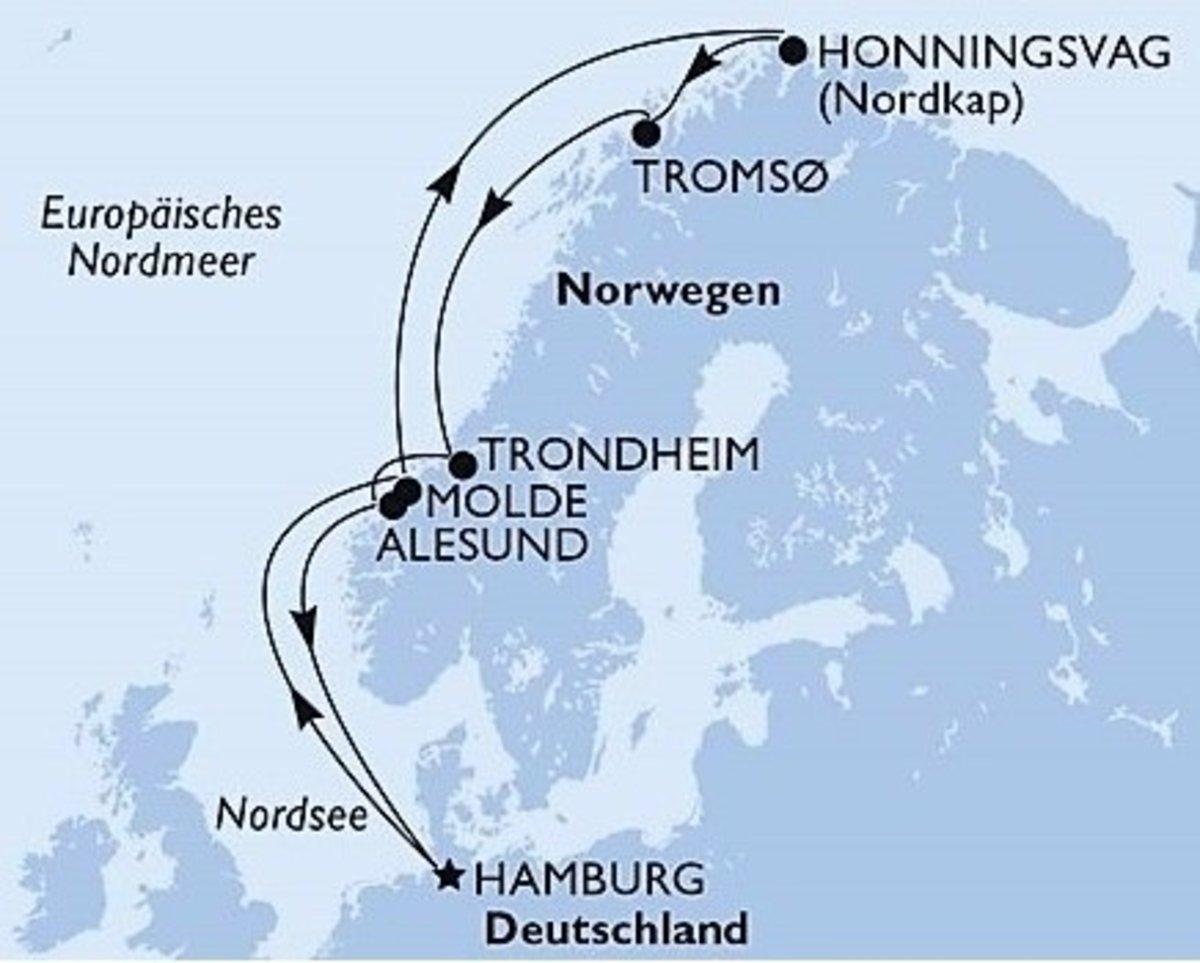 Kreuzfahrt nach Norwegen zum Nordkap. Teil 1 (Das Schiff ...
