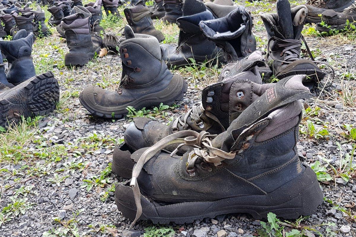 3cad339584a11c Ironie des Schicksals  Stiefel stehen genug vor der alten Zeche