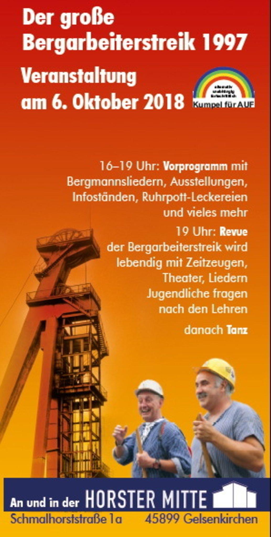 Veranstaltung Zum Großen Bergarbeiterstreik 1997 Am 6102018 In