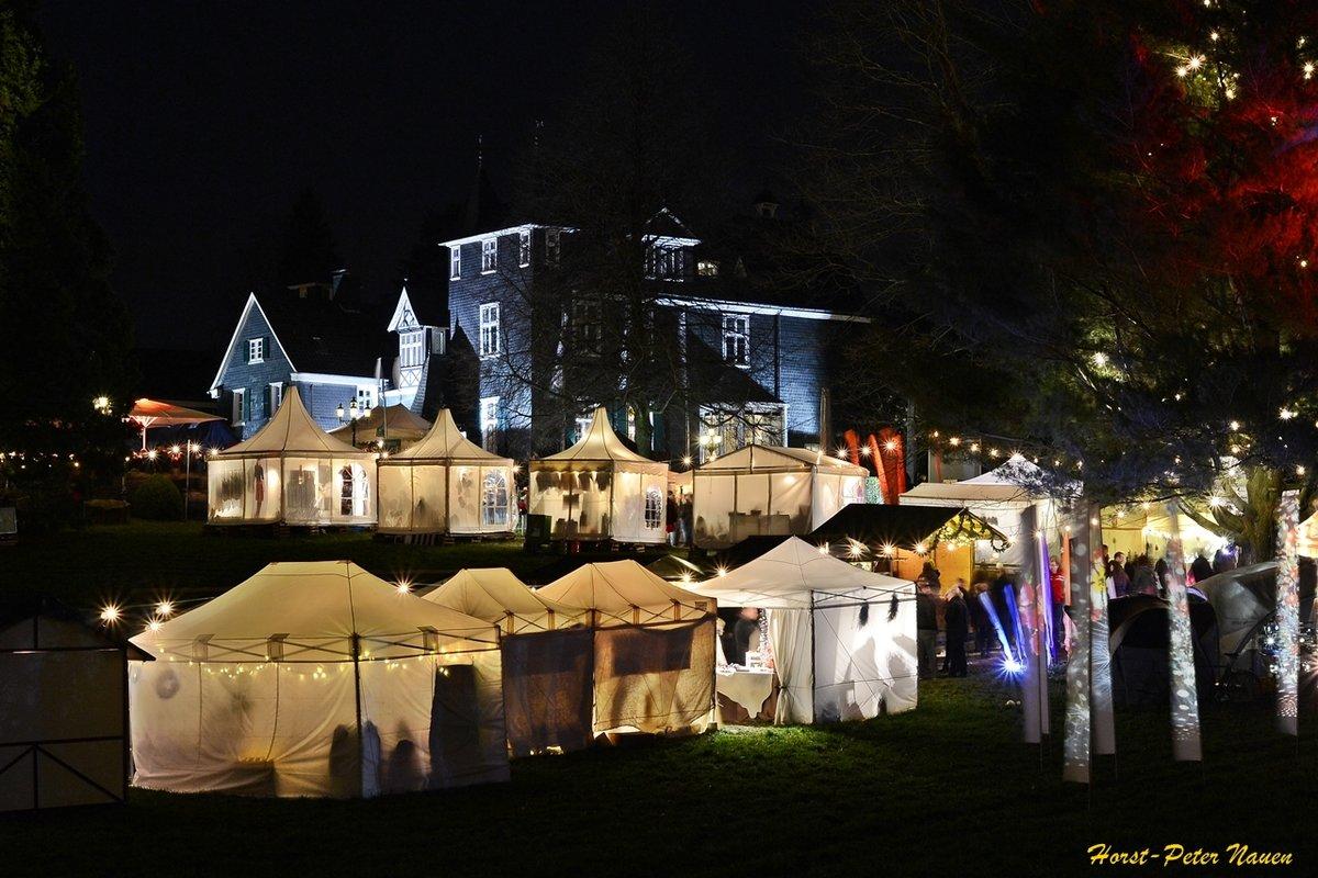 Romantischer Weihnachtsmarkt.Weihnachtsmarkt Romantischer Weihnachtsmarkt Schloss Grünewald