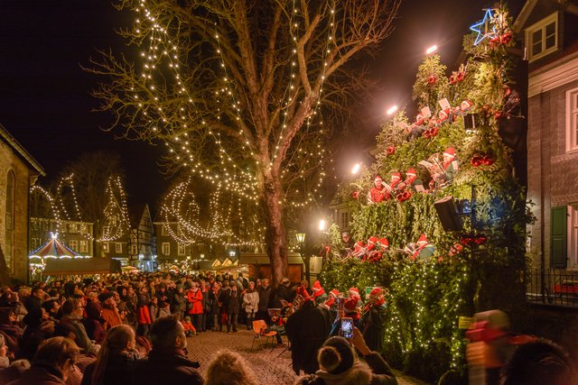Neuer Publikumsmagnet Der Singende Weihnachtsbaum Auf Dem