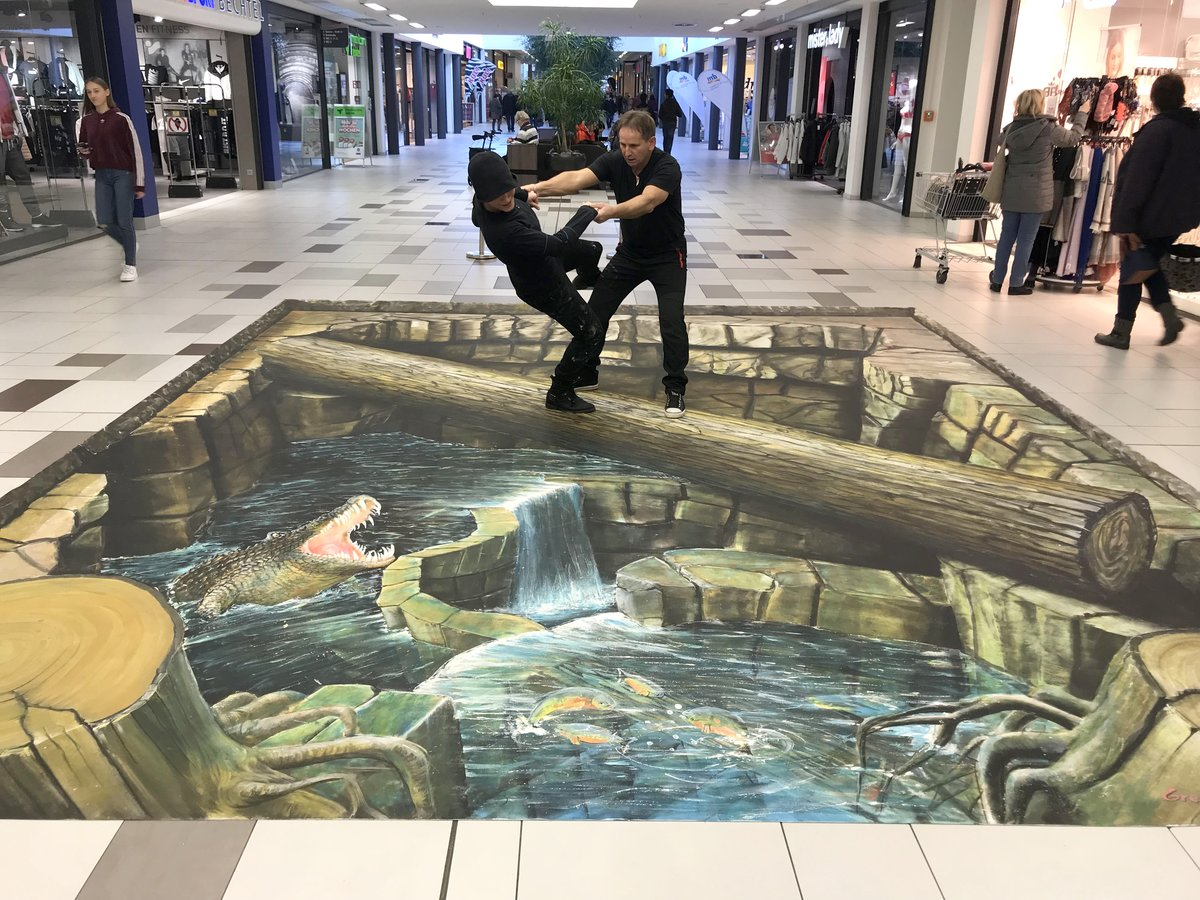 Optische Tauschung 3d Malerei Im Bero Einkaufszentrum Oberhausen