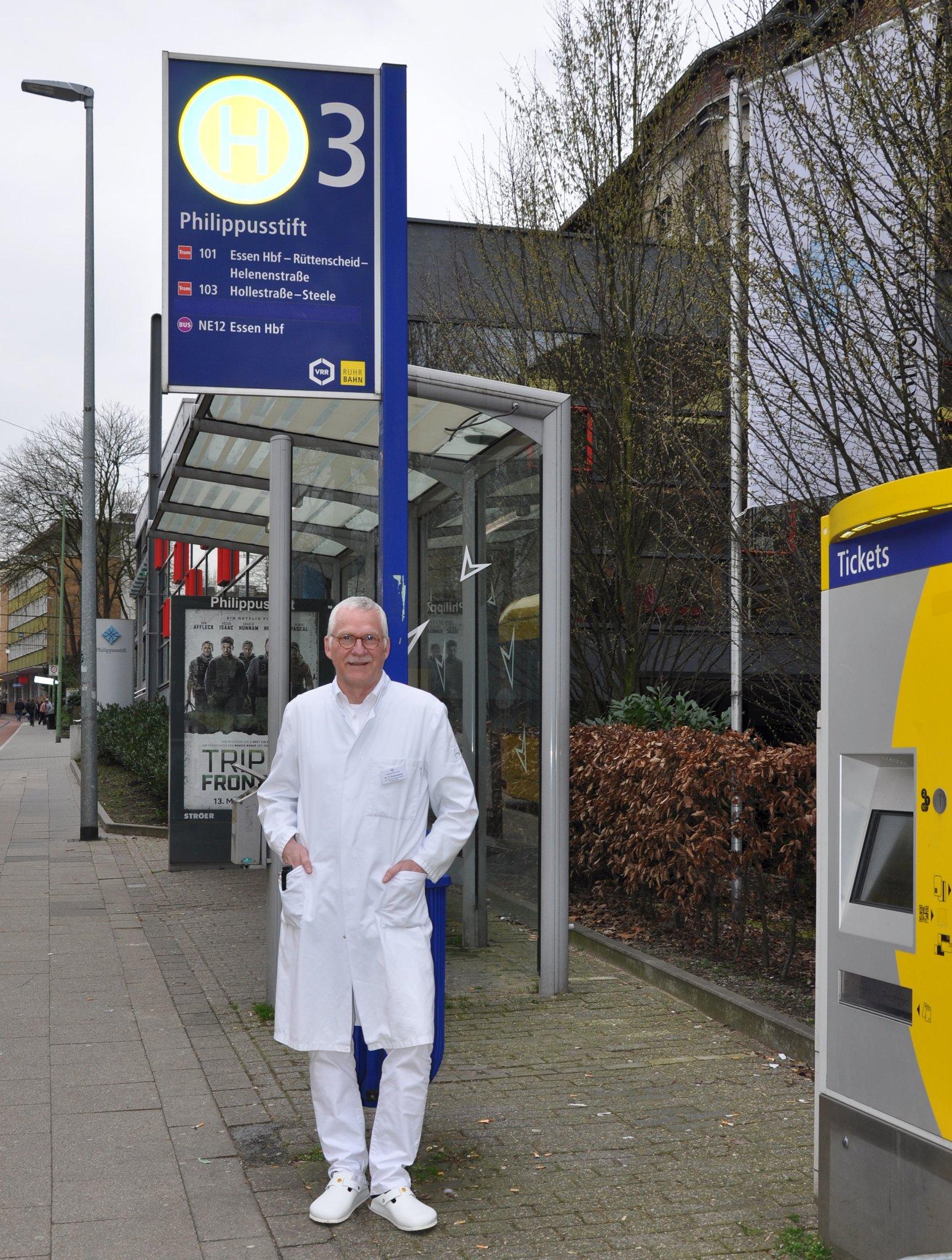In Borbeck angekommen: Chefarzt Dr. Franz-Josef Schumacher.