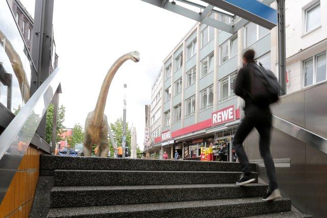 Dino City Bochum Karte.33 Lebensgroße Figuren Ab Mittwoch In Bochum Und Wattenscheid Die