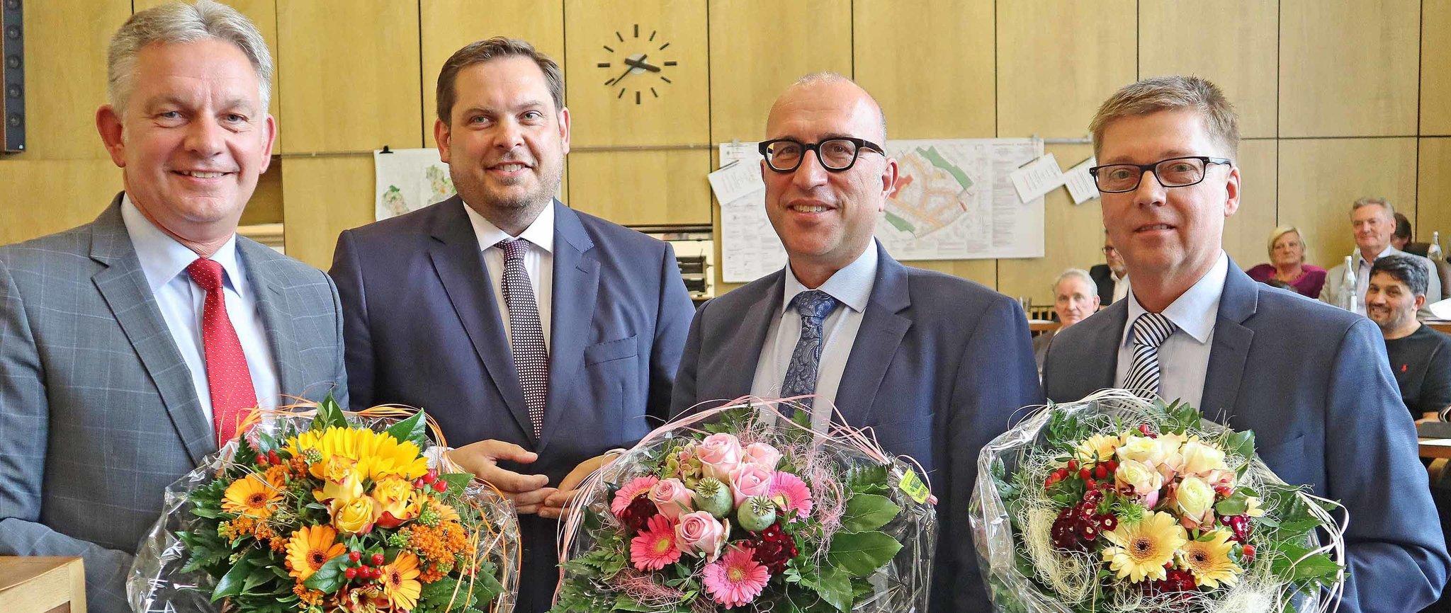 Neuorganisation Der Zustandigkeiten Funf Beigeordnete Auf Der Verwaltungsbank Oberhausen