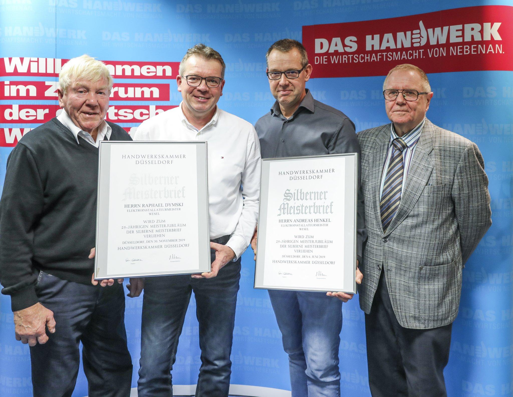 Zwei neue Silber-Meister im Elektro-Handwerk - Lokalkompass.de