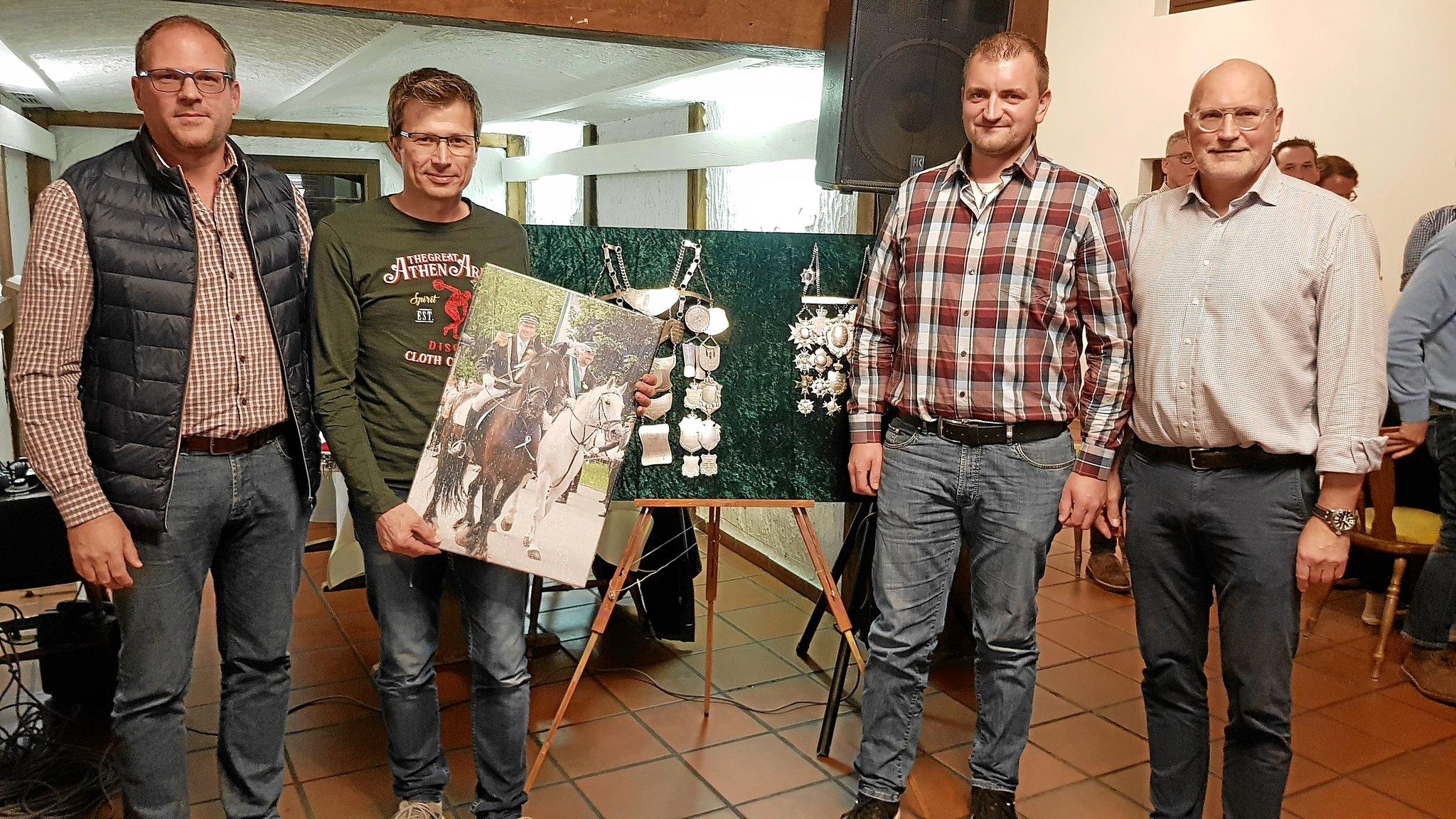 Johannes Kemna ist Ehrenoffizier: Herbstversammlung der Schützen in Dorf Hervest - Lokalkompass.de