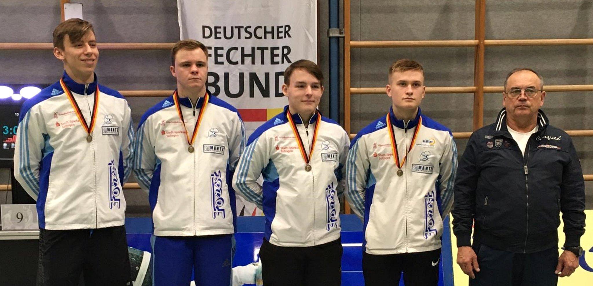 DM-Säbelfechten: Solinger Säbel-Team holt DM-Bronze - Lokalkompass.de