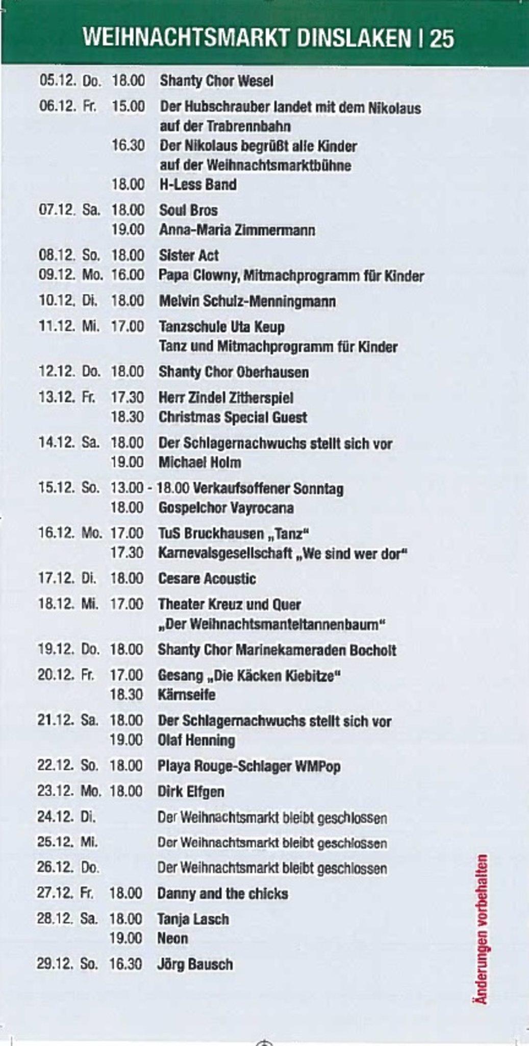 Streicherklasse Konzert Auf Dem Weihnachtsmarkt Otto Hahn Gymnasium Dinslaken