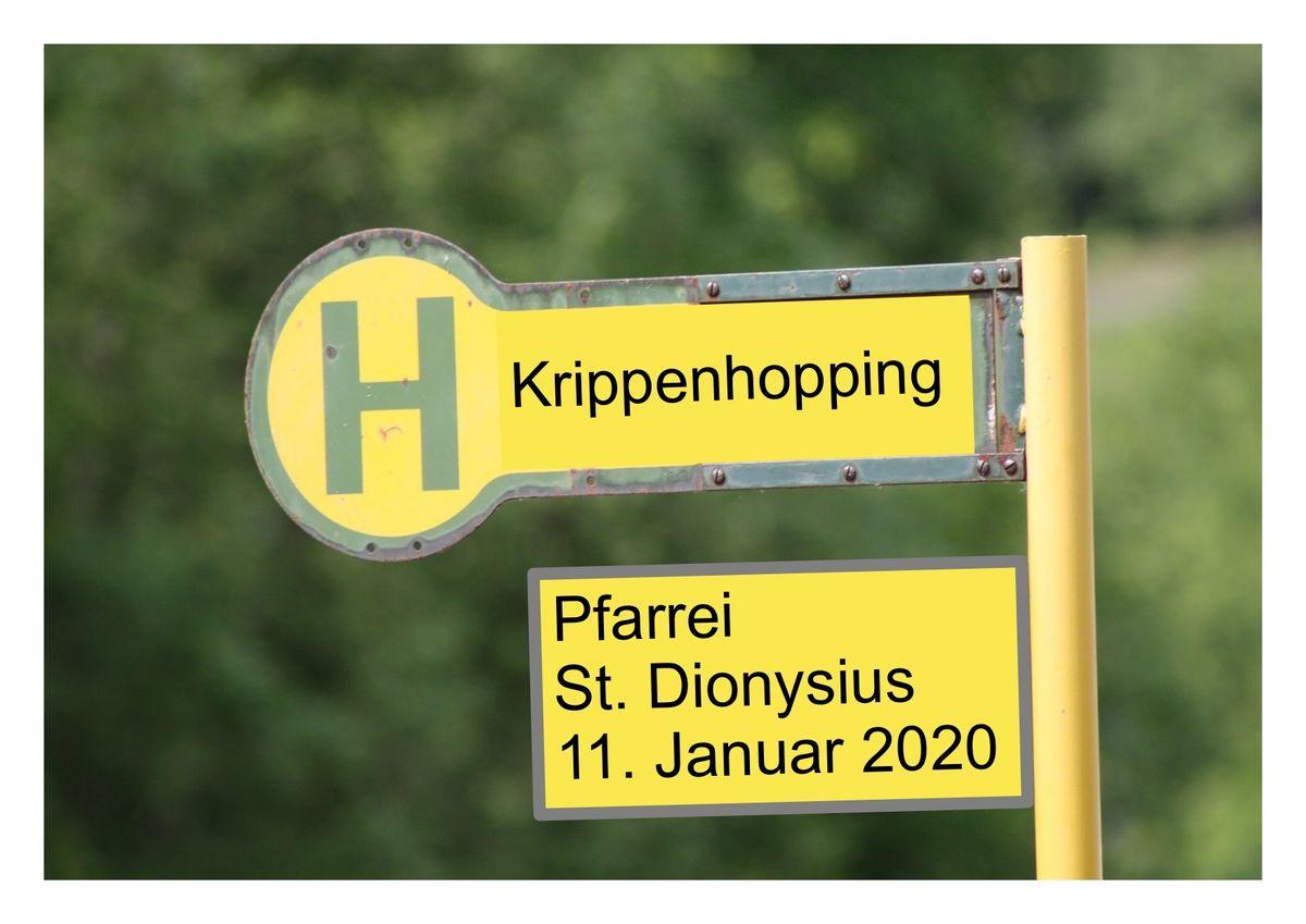 Die EInladung zum Krippenhopping am 11. Januar steht.