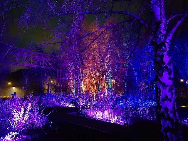Licht Bei Der Nacht Schablone