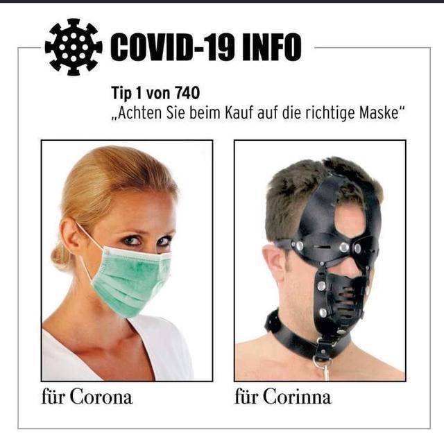 Corona Maske Lustig