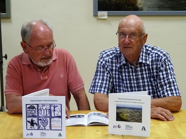 Links: Autor Ludwig HoppeRechts: Franz-Josef Molitor verantwortlich für Layout und Satz