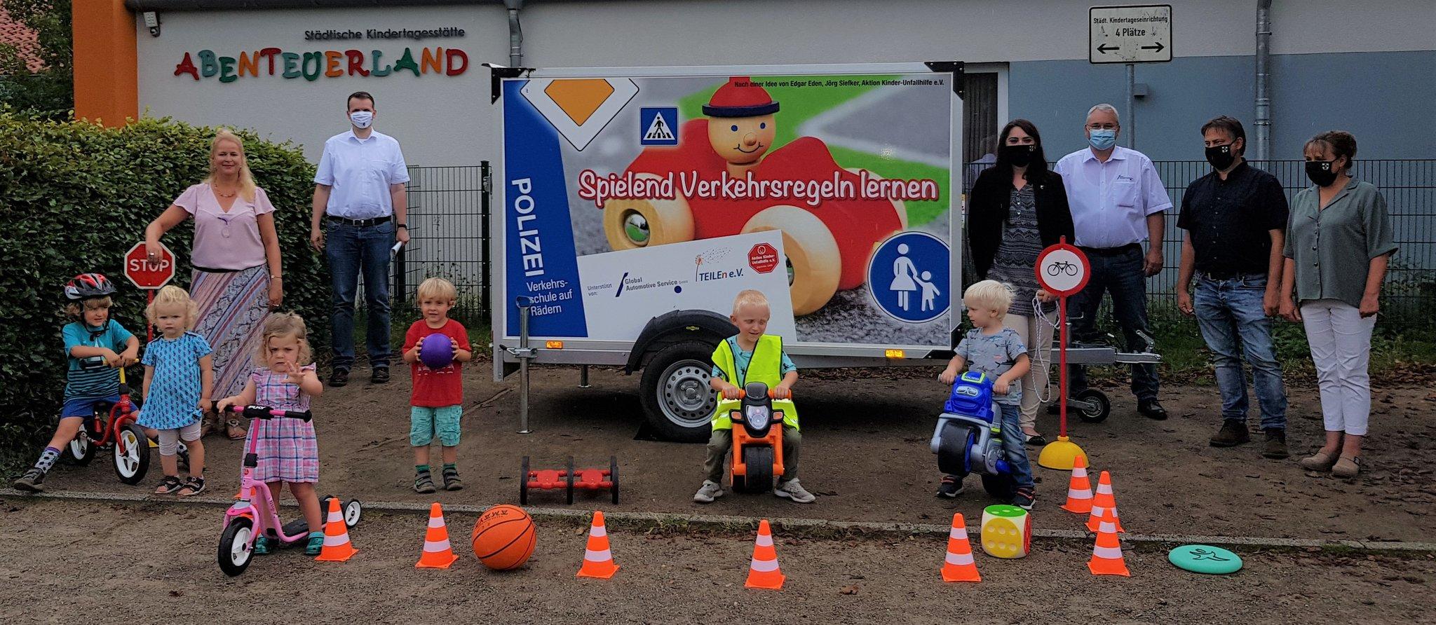 Heimatstadt Dorsten: Kindergärten können Verkehrserziehungs-Anhänger kostenlos ausleihen - Dorsten...