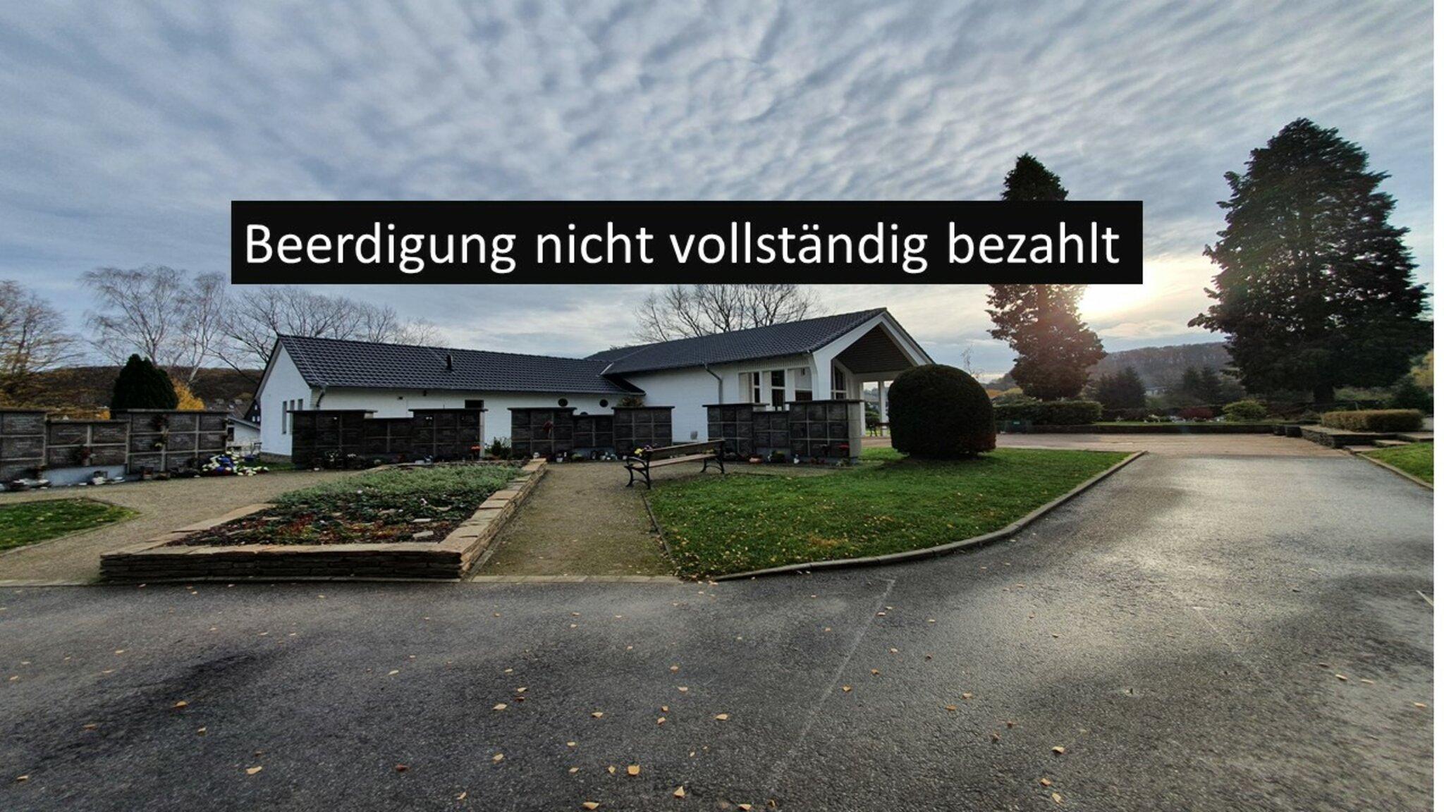 Hattingen: Omas Beerdigung nicht bezahlt  Einsame Gerichtsverhandlung...