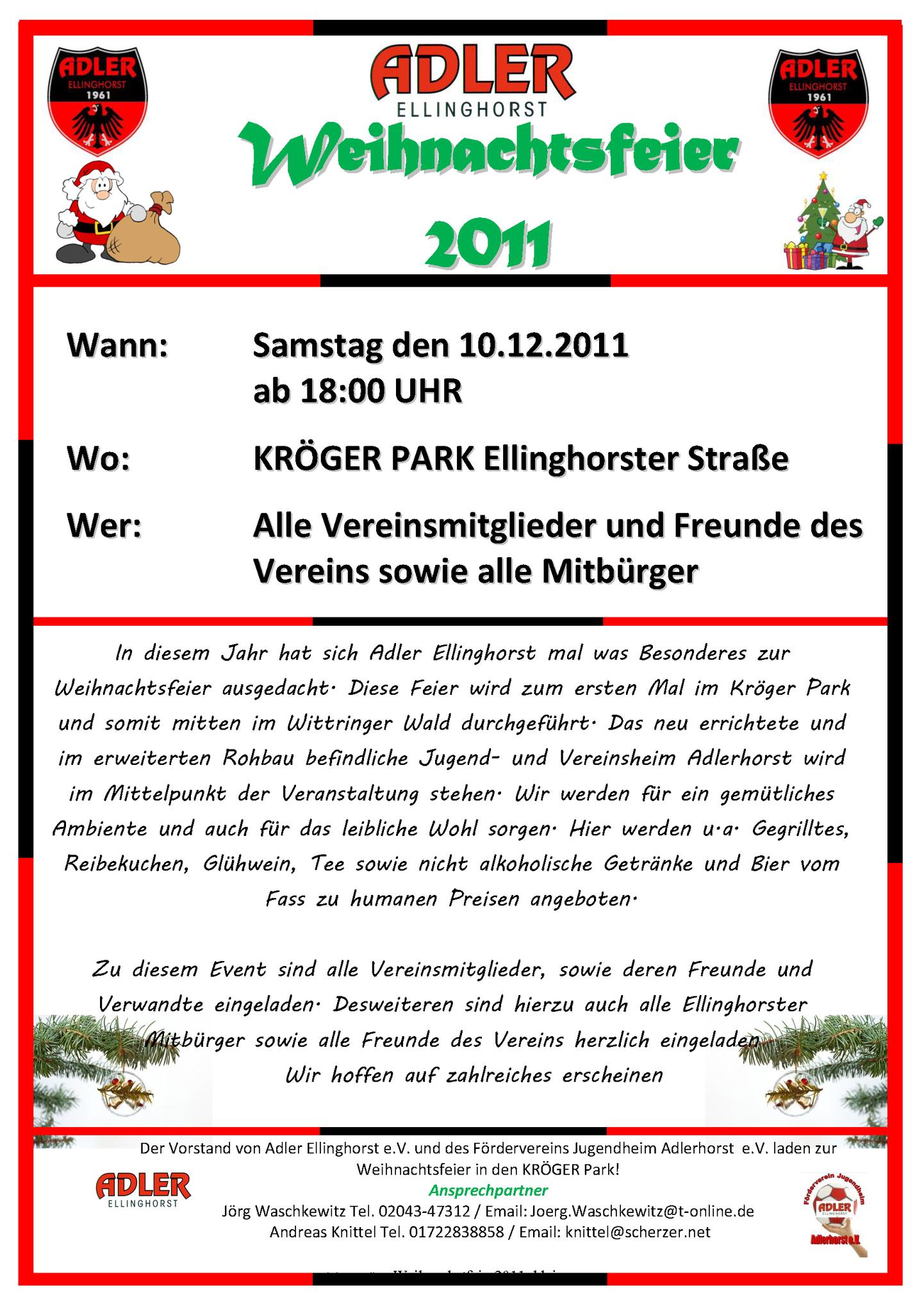 Weihnachtsfeier Im Kröger Park