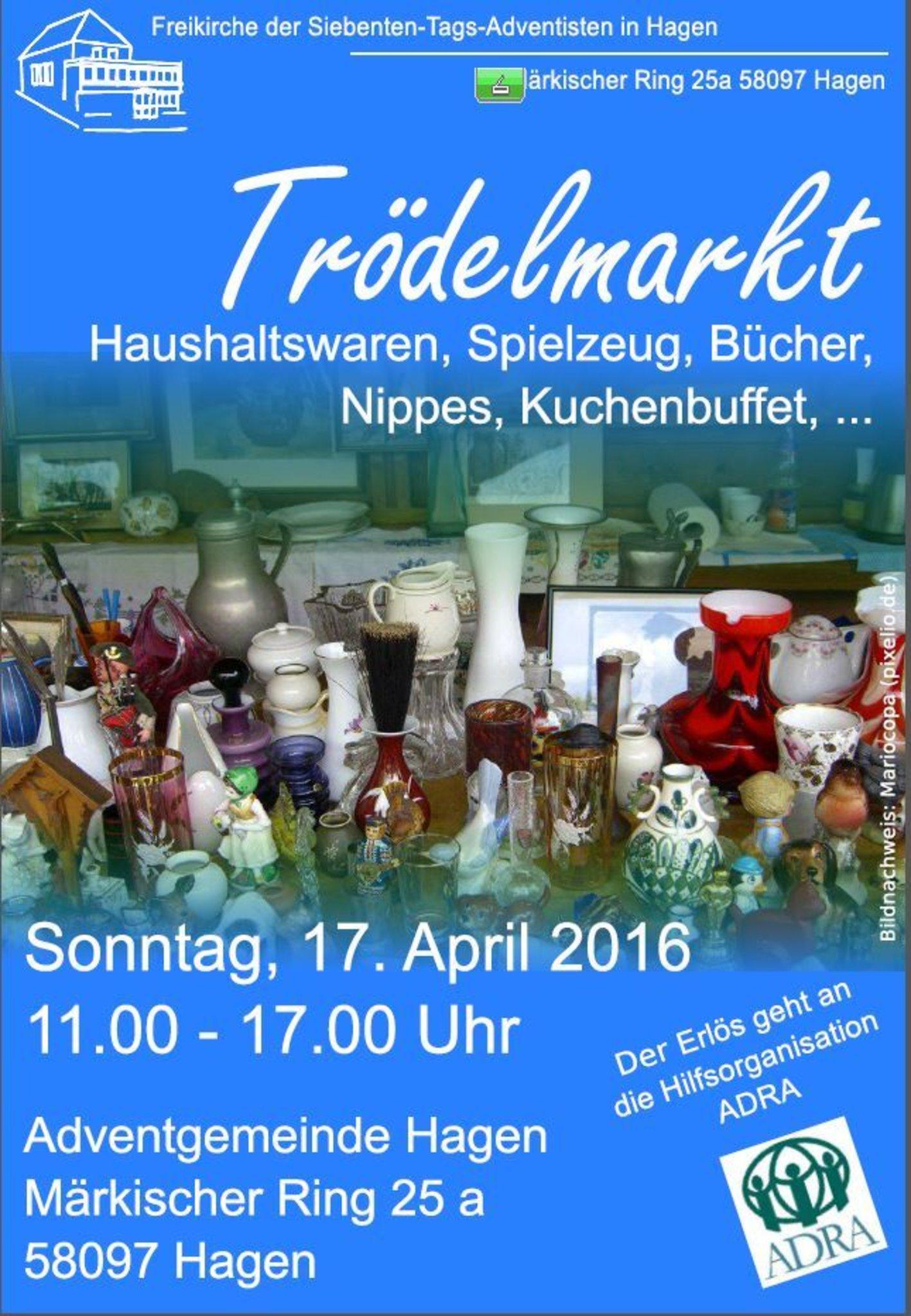 Trödelmarkt in der Adventgemeinde Hagen am 17.4.2016