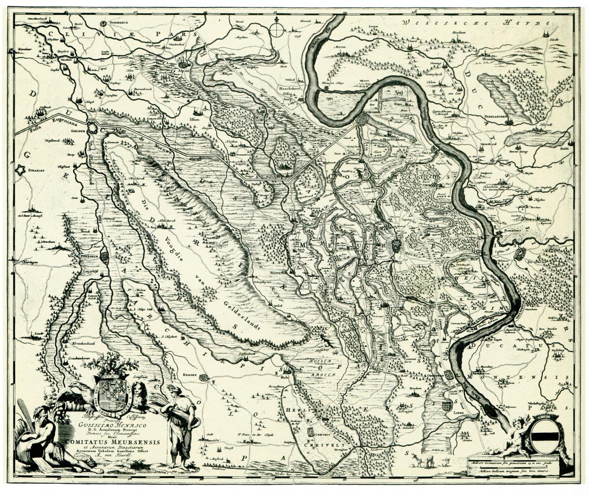 Karte Niederrhein.Alte Karte Vom Niederrhein